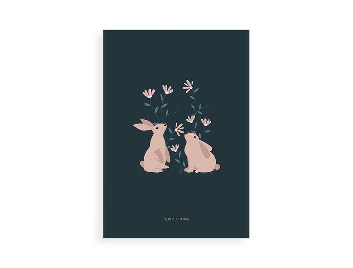 Print, bunny lovers