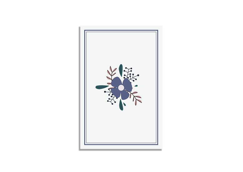 Postcard 15*10 CM purple flower