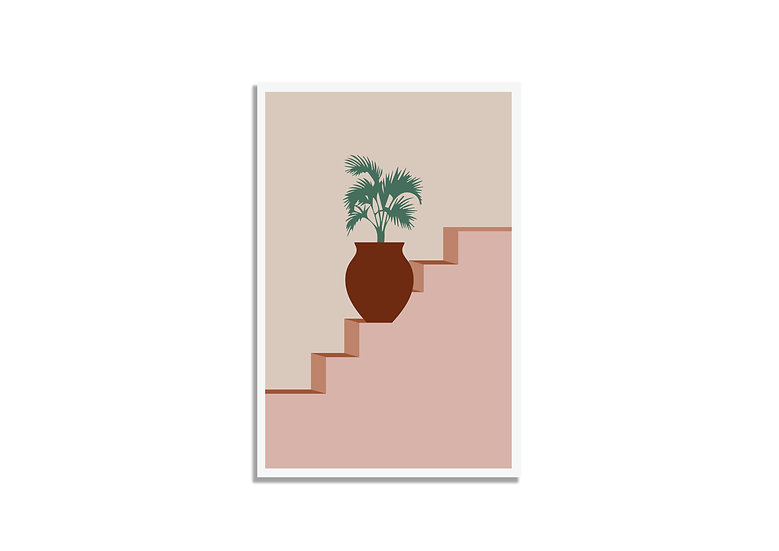 Postcard palm tree plant