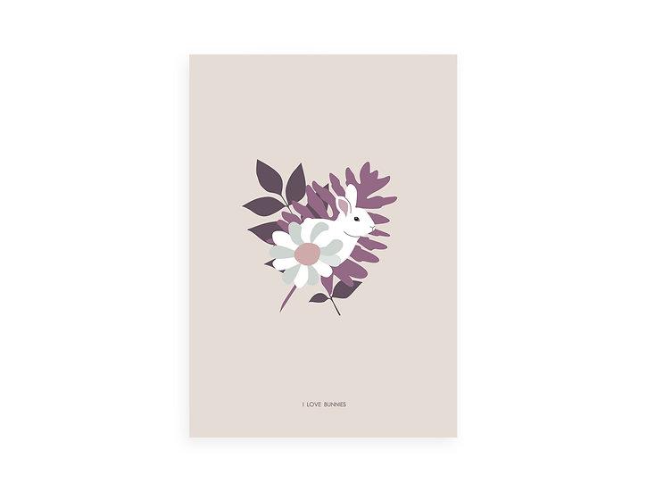 Print, purple leaves