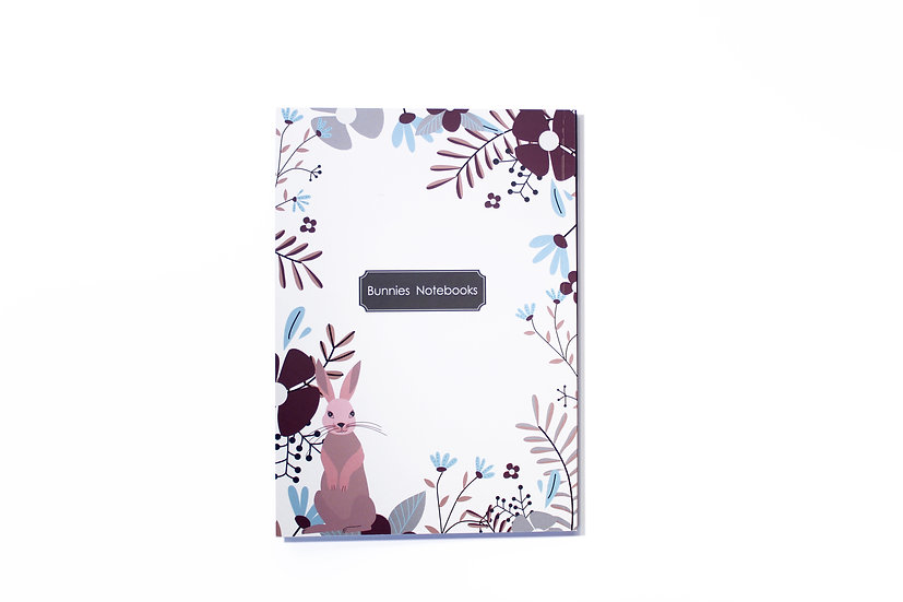 notebook, soft cover, flowers frame