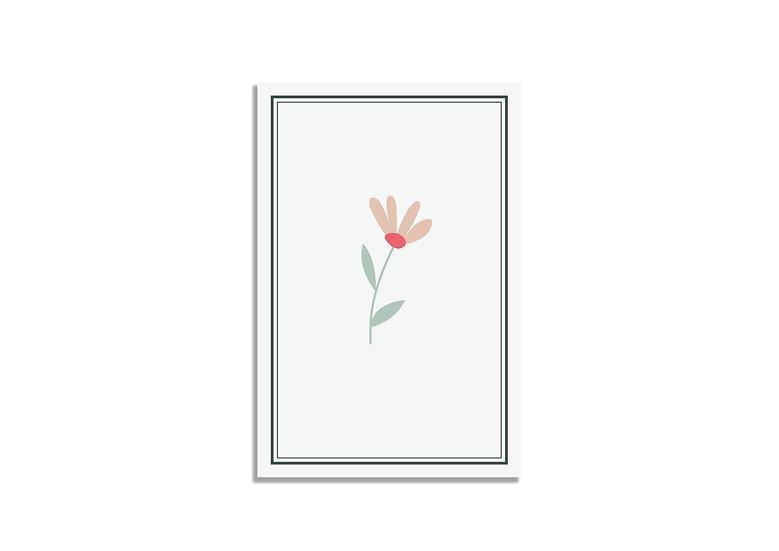 Postcard 15*10 CM orange flower