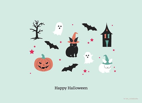 Halloween Greeting card_Green