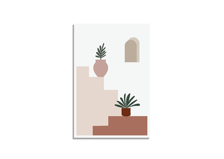 Postcard plants on the stairs