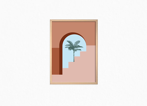 Print, Palm tree