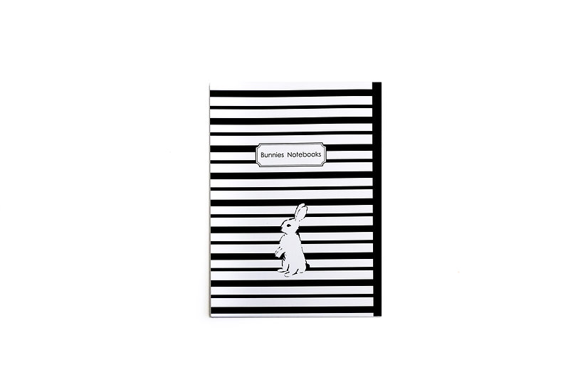 Notebook, Soft cover, Black ans white strips