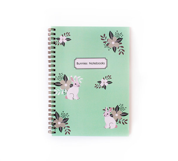 Gold Spiral Binding, mint color