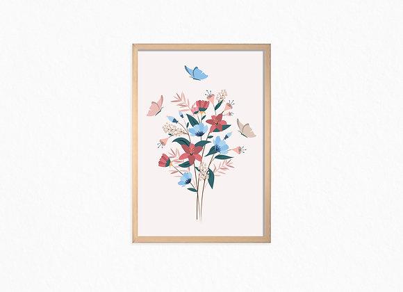 Flowers Bouquet, pink