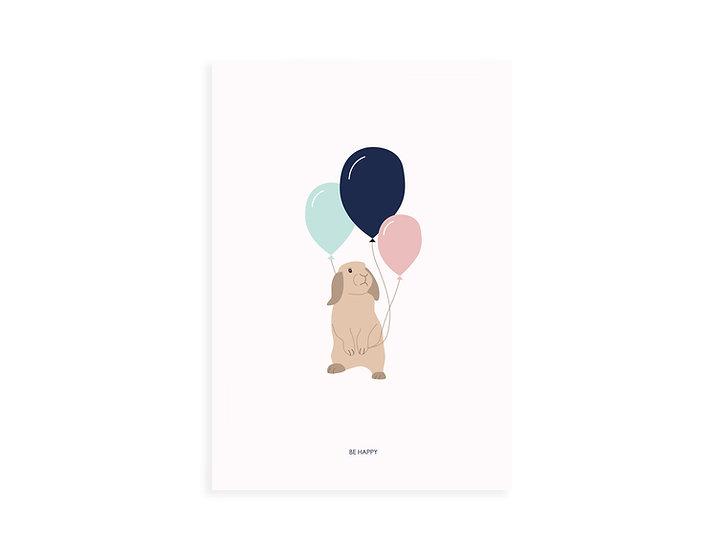 Print, loop bunny&balloons