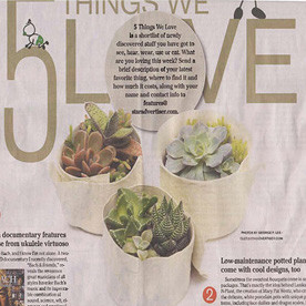 "We were featured in the Star-Advertiser, one of your ""5 Things We Love""!"