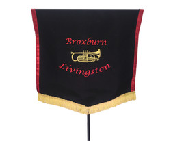 Two Colour Embroidered Banner