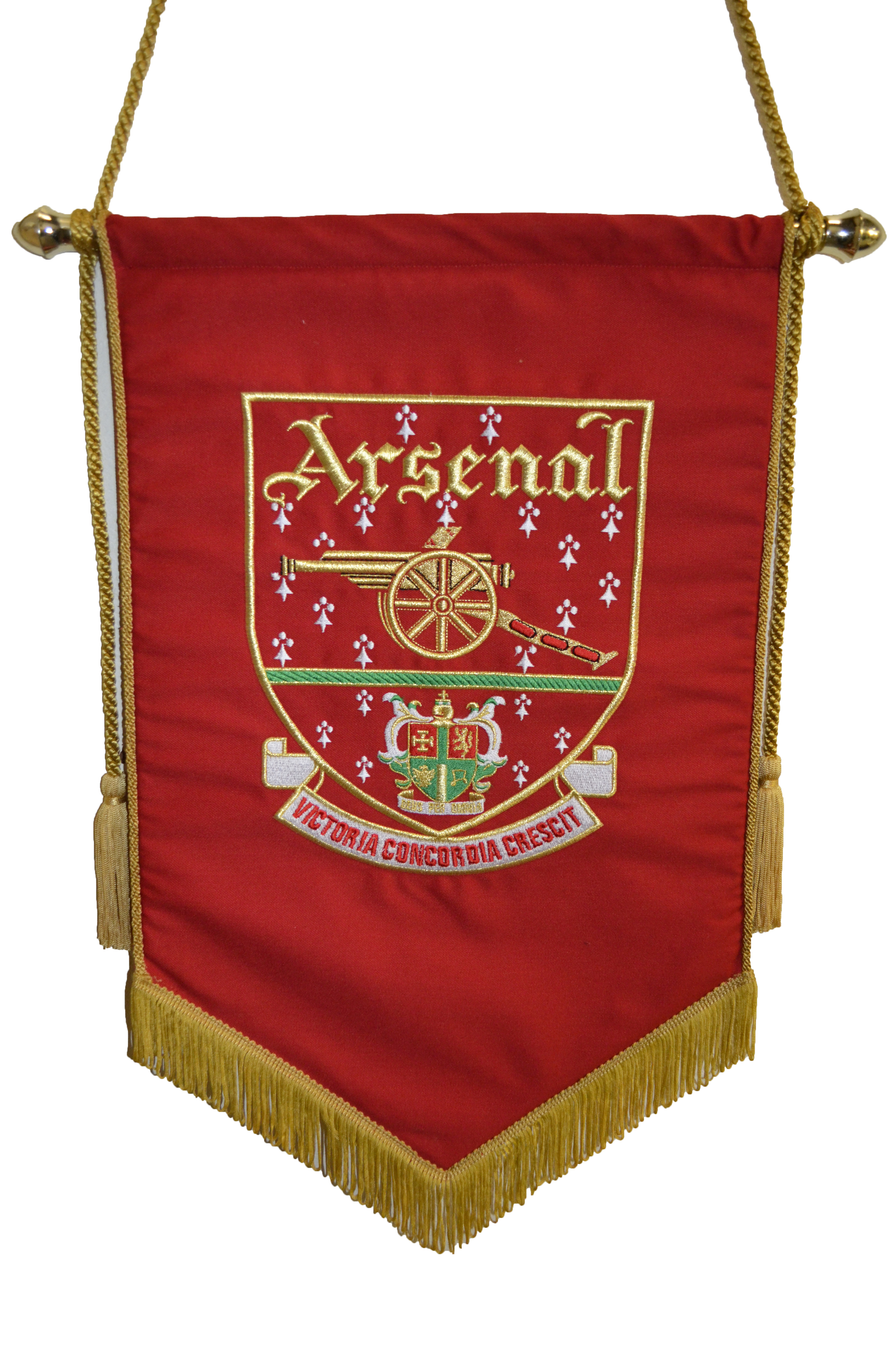 Red Embroidered Pennant