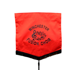 Black & Red Embroidered Banner