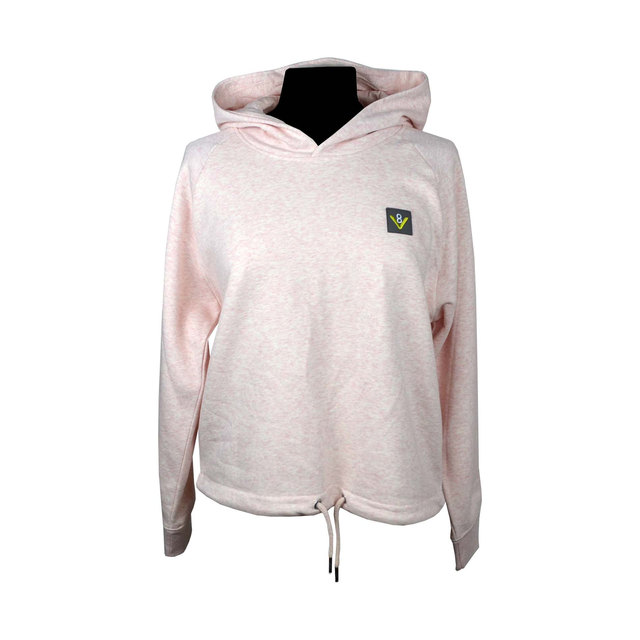 Bower Cropped Hoodie in Heather Pink