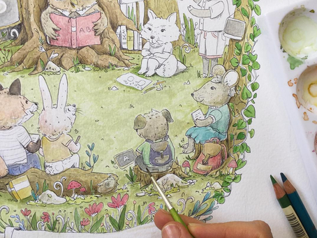 Forest school illustration