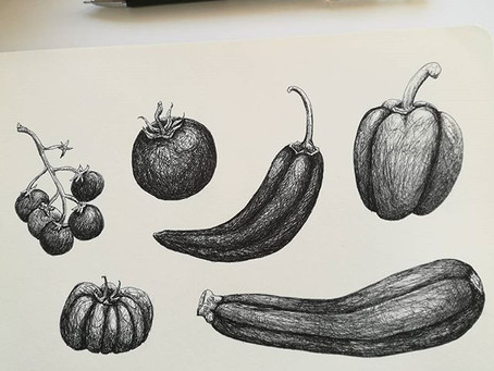 Ink veggies 3