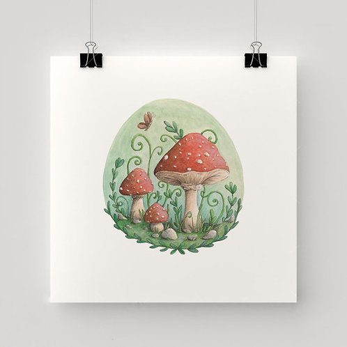 Magical Mushrooms print