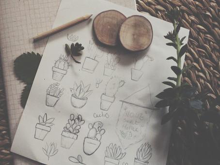 cactus sketches