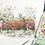 Thumbnail: Postcard Fall-winter log - watercolor