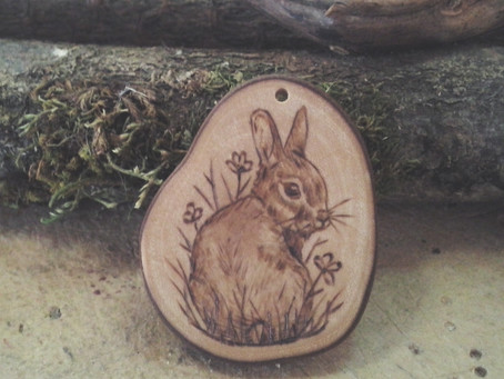 Custom rabbit necklace