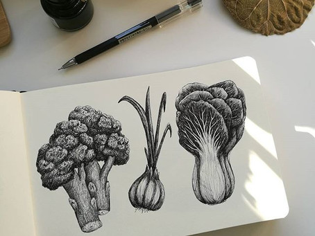 Ink veggies 2