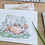 Thumbnail: Postcard little mouse in a teapot - watercolor