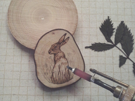 Custom hare necklace