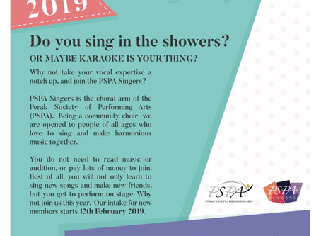 2019 PSPA Singers New Intake Day