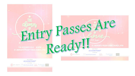 PSPA Singers The Chimes of Love – Entry Passes Are Ready for Collection!