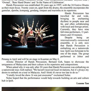 """2017 """"Hands on Tour"""" - Post Event Article by Ipoh Echo"""