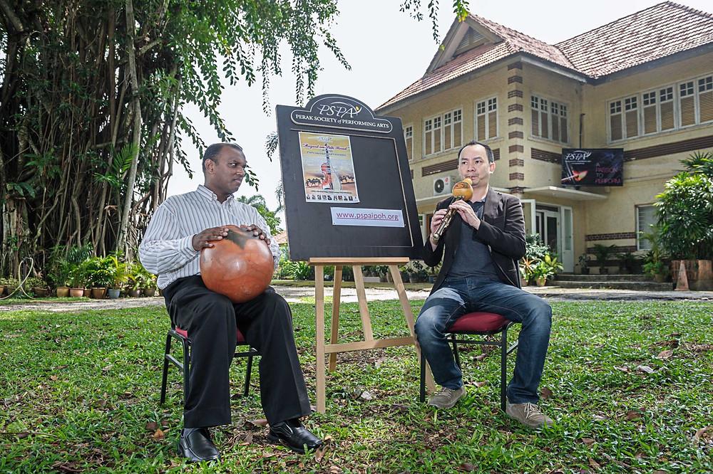 Music Director,Eugene Pook with Subain Singam - Eastern Drums (Gatham, Ganjara & Tabla)