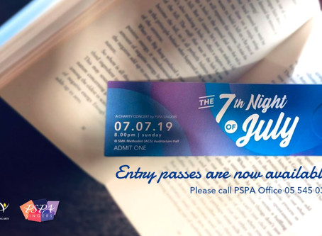 The 7th Night of July – Entry Passes Are Now Available for Collection!