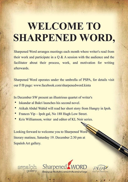 Sharpened Word Literary Matinee is back this 19th Dec 2015!