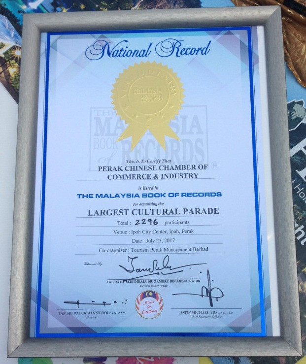 The Malaysian Book of Records recognition
