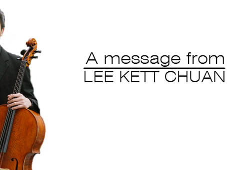PSPA Presents -  A Message from Lee Kett Chuan