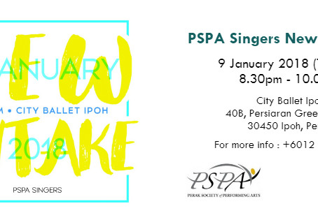 PSPA Singers New Intake Day