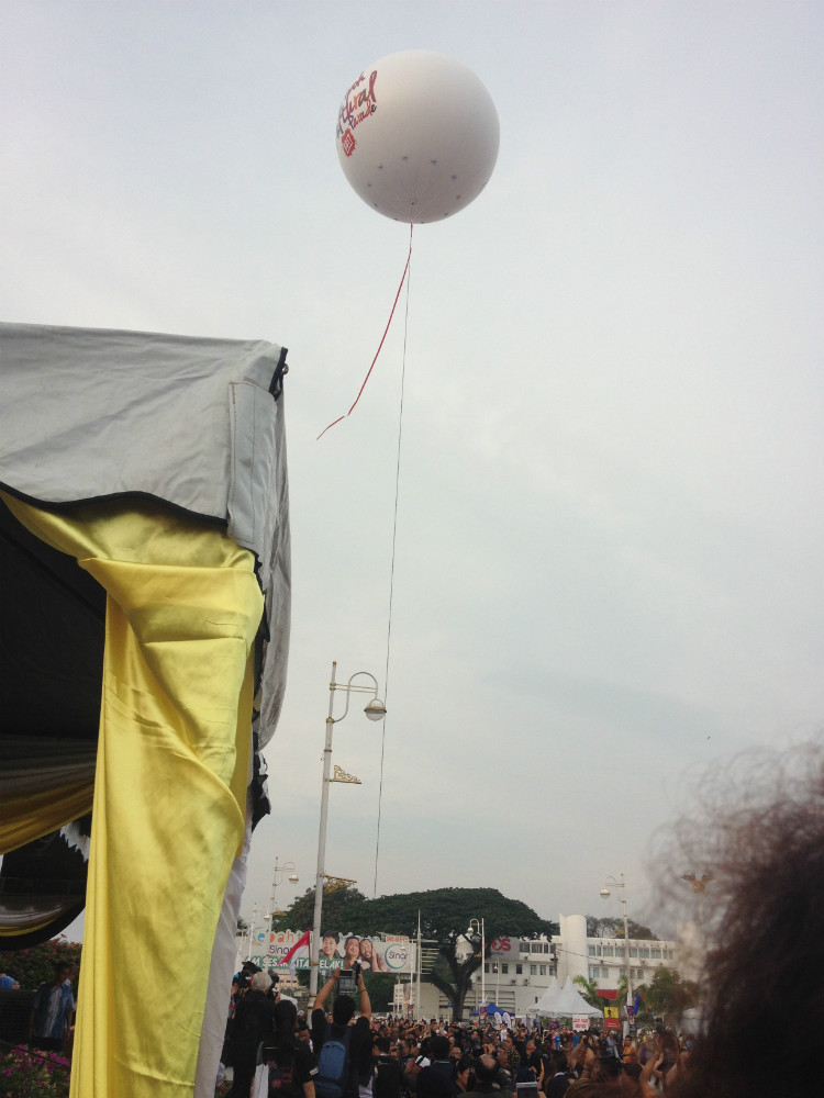 The Helium Balloon going up and away