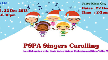 Carolling With The PSPA Singers.....