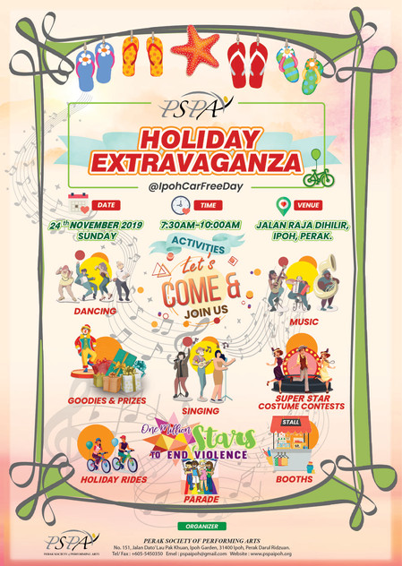 2019 PSPA Holiday Extravaganza @ Ipoh Car Free Day