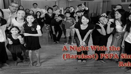 A Night With the (Barefoot) PSPA Singers Rehearsal