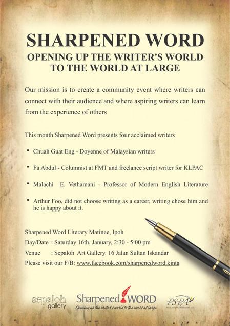 Sharpened Word Literary Matinee is back!