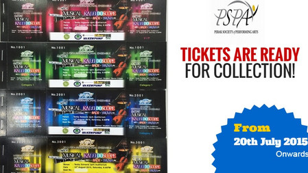 PSPA International Ensemble - Tickets Are Ready for Collection!