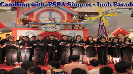 Carolling with PSPA Singers - Ipoh Parade