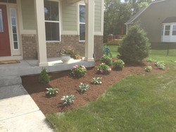 AVon Job with firepit, bench stepping stones & landscaping work 3