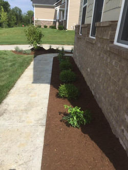 AVon Job with firepit, bench stepping stones & landscaping work 2