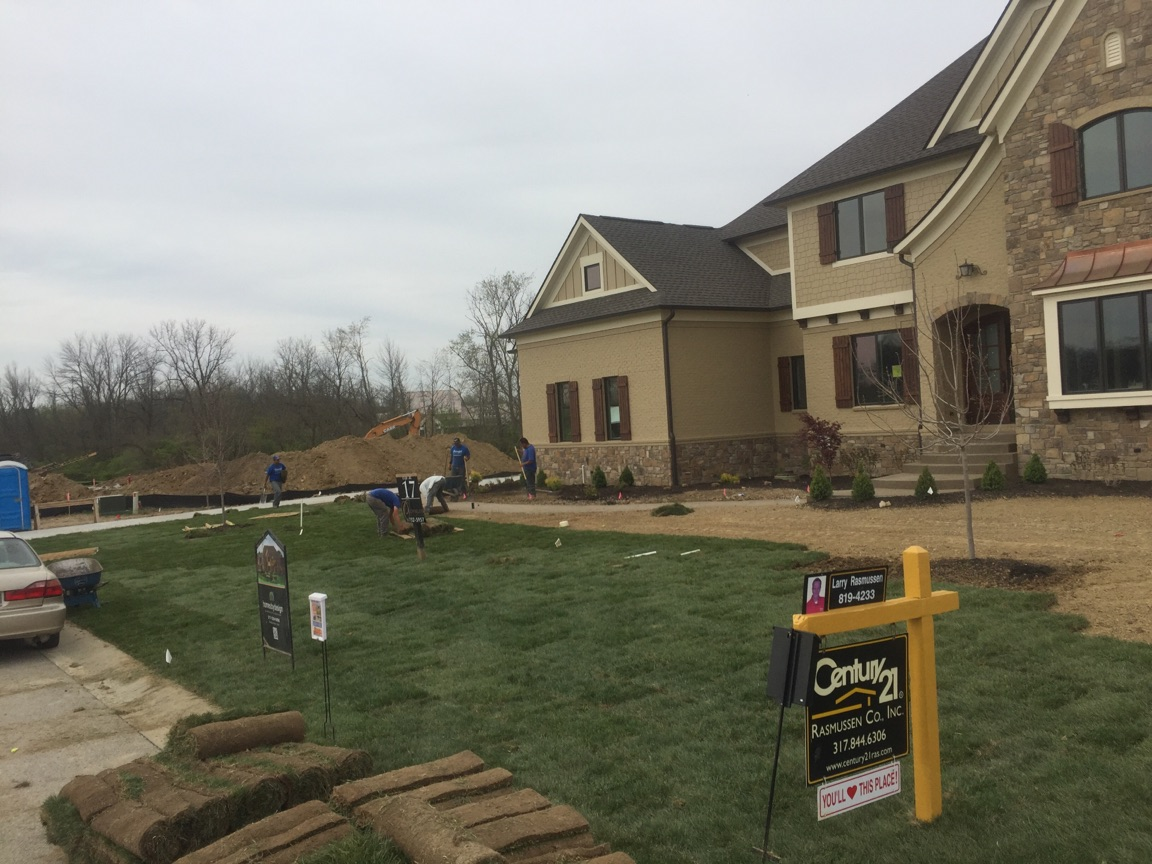 Sod & Landscaping for Spec House