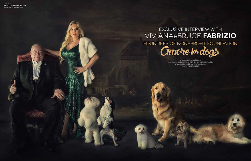 VIVIANA FABRIZIO BRUCE FABRIZIO FOUNDERS OF AMORE FOR DOGS FOPUNDATION MOST CELEBR