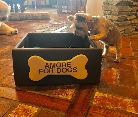 Amore for Dogs  custom Toy Box Made of Birchwood $200 donation