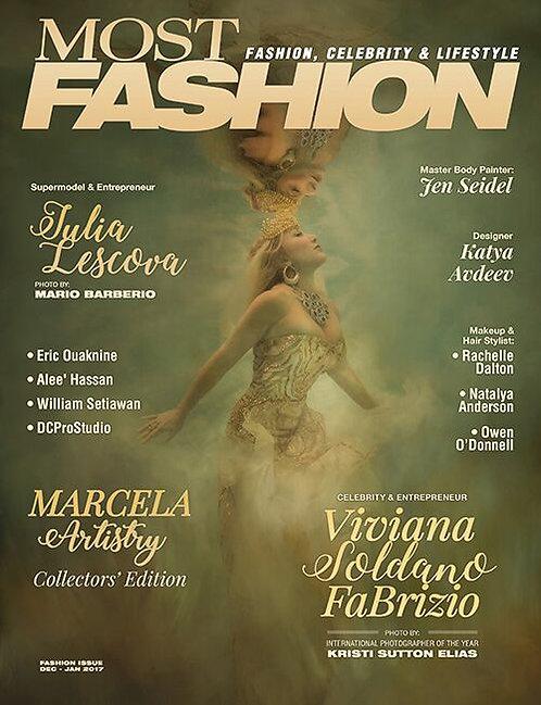 Most Magazine Fashion  DEC/JAN 2017 $50 donation