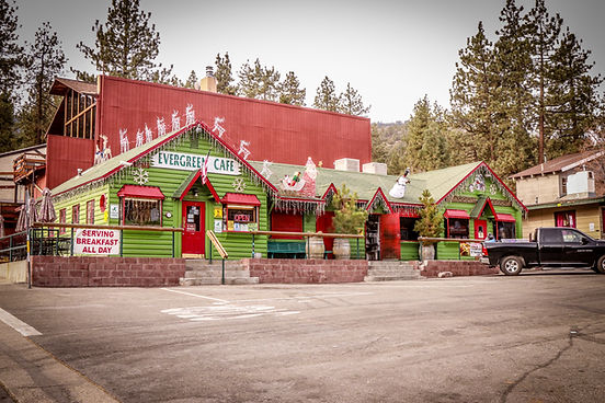 Evergreen Cafe Racoon Saloon